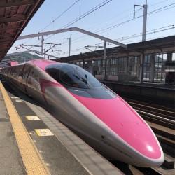 ピンクの新幹線に乗ってきました!