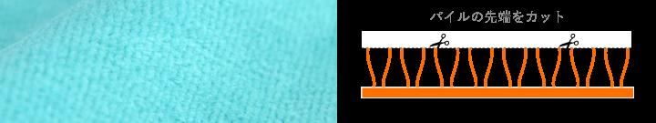 タオル,タオルについて,織り方,シャーリング